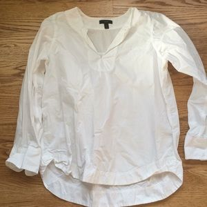 J crew white cotton tunic blouse Sz S